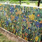 Our Tiled Garden wall (BACK WALL) by catherine walker