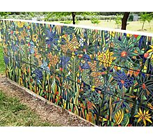 Our Tiled Garden wall (BACK WALL) Photographic Print