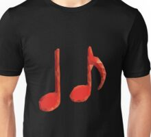 Polygonal Music Notes Unisex T-Shirt