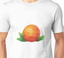 Polygonal Orange Unisex T-Shirt