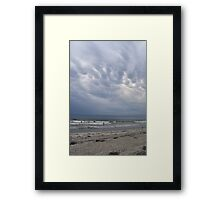 Storm? What storm? Framed Print