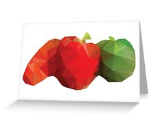 Polygonal Vegetables Greeting Card