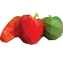 Polygonal Vegetables Photographic Print