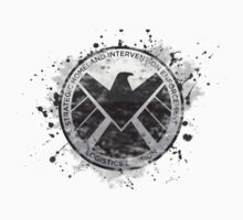 S.H.I.E.L.D Emblem (in gray with white background) Kids Clothes