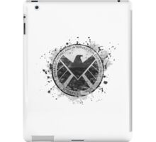S.H.I.E.L.D Emblem (in gray with white background) iPad Case/Skin