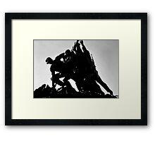 Iwo Jima 5BW watercolor Framed Print