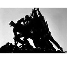 Iwo Jima 5BW watercolor Photographic Print