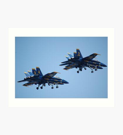 THE BLUE ANGELS AT SEA FAIR Art Print