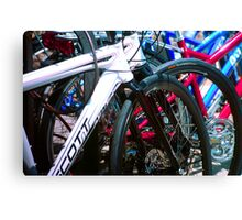 Bicycle shapes Canvas Print
