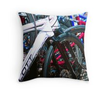 Bicycle shapes Throw Pillow