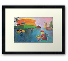Going to the Dome Framed Print