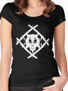 H. Squad White Women's Fitted Scoop T-Shirt