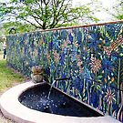 Tiled Garden wall  ( THE  FRONT WALL) by catherine walker