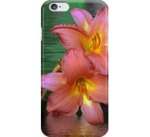 Pink Lillis in the water  iPhone Case/Skin