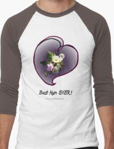 wildflower, Best Mum EVER! heart  Men's Baseball ¾ T-Shirt