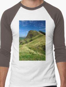 Back Tor, near to Castleton  Men's Baseball ¾ T-Shirt