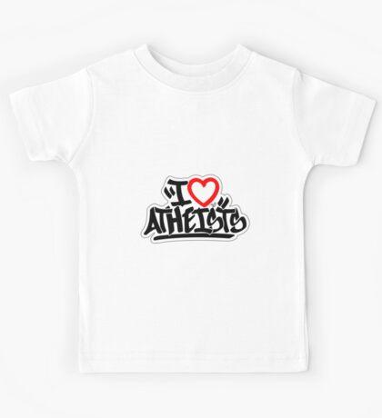 I Love Atheists (blk) by Tai's Tees Kids Tee