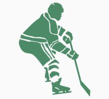 Green Hockey Player Kids Clothes