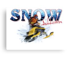 Snow Addiction Canvas Print