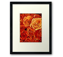 everything coming up roses Framed Print