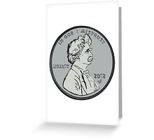 """""""Mark makes cents"""" by Tai's Tees Greeting Card"""