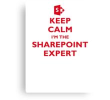 Keep Calm I'm the SharePoint Expert Canvas Print