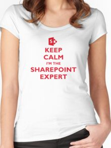 Keep Calm I'm the SharePoint Expert Women's Fitted Scoop T-Shirt