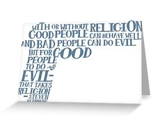 STEVEN WEINBERG quote-cloud by Tai's Tees Greeting Card