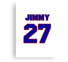 National football player Jimmy Wyrick jersey 27 Canvas Print
