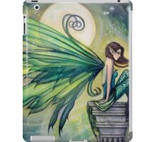 Aquamarine Fairy and Moon Celestial Fantasy Art iPad Case/Skin