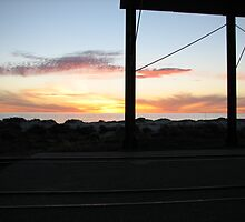 Semaphore Sunset 2 by andrew peters