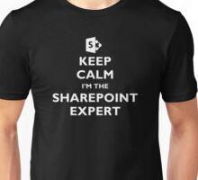 Keep Calm I'm the SharePoint Expert - White Text Unisex T-Shirt