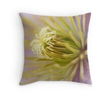 Inside the clematis Throw Pillow