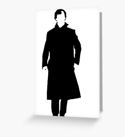 Sherlock Holmes Silhouette Greeting Card