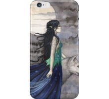 """Night of the Wolf"" Gothic Fantasy Art by Molly Harrison iPhone Case/Skin"