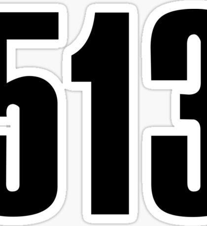 513 Cincinati | Phone Area Code Shirts Stickers Sticker