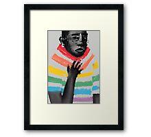 rainbow suit Framed Print