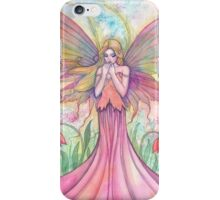 Wildflower Fairy Watercolor Illustration by Molly Harrison iPhone Case/Skin