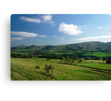 Great Ridge Hills, from the Pennine Way  Canvas Print