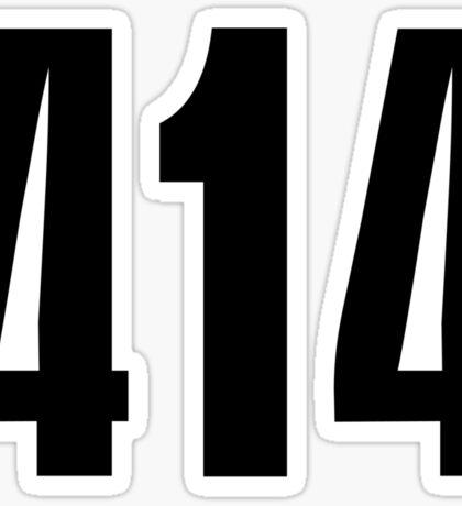 414 Milwaukee | Phone Area Code Shirts Stickers Sticker