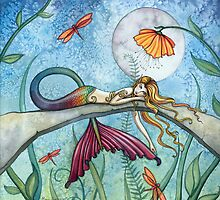 """""""Down by the Pond"""" Mermaid Art by Molly Harrison by Molly  Harrison"""