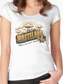 Greetings from the Wasteland! Women's Fitted Scoop T-Shirt
