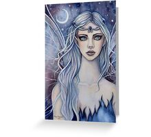 Sapphire Mystical Fairy Fantasy Art by Molly Harrison Greeting Card