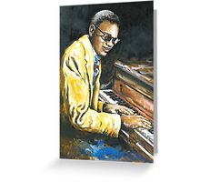 Study of Ray Charles Greeting Card