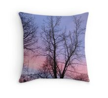 Vertical Purple and Pink Sunrise  Throw Pillow