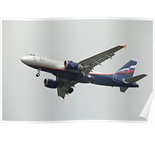 Airbus A319 in the air Poster
