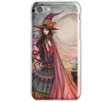 The Fanciful Witch Halloween Fantasy Art by Molly Harrison iPhone Case/Skin