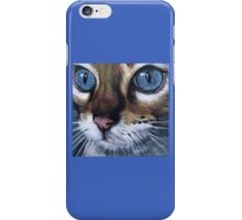 Blue eyed cat iPhone Case/Skin