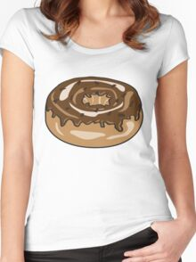 Chocolate donut Women's Fitted Scoop T-Shirt