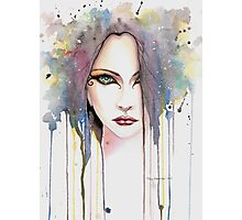 The Psychic Woman Fantasy Watercolor Art by Molly Harrison Photographic Print